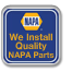 We install quality NAPA parts